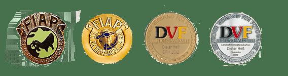 FIAP und DVF Medallien